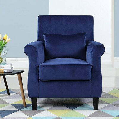 Robbins Classic Armchair Upholstery: Navy