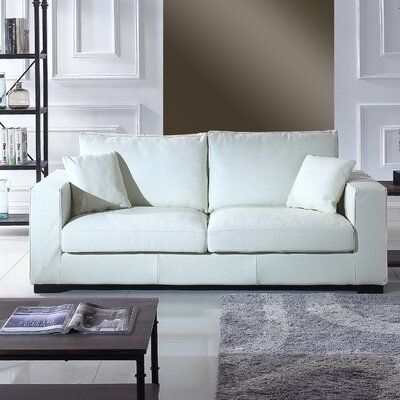 Leka Large Modern Top Grain Leather Sofa