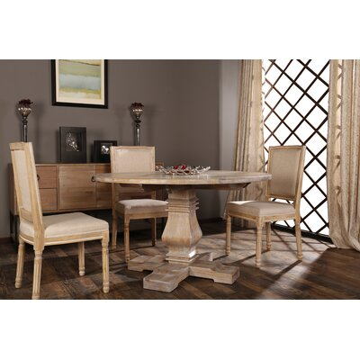 Filomena Vintage Upholstered Dining Chair Frame Color: Beige