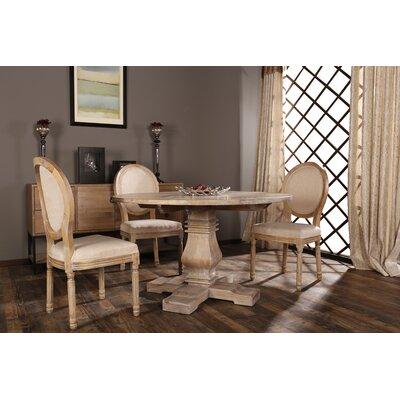 Florenza Vintage Upholstered Dining Chair Frame Color: Beige