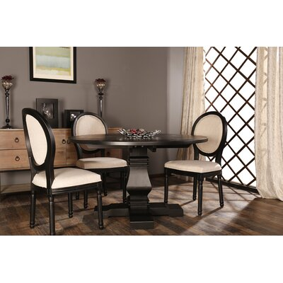 Florenza Vintage Upholstered Dining Chair Frame Color: Black
