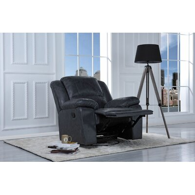 Henry Manual Swivel Rocker Recliner Upholstery Color: Grey