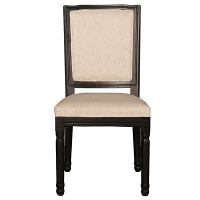 Filomena Vintage Upholstered Dining Chair Frame Color: Black