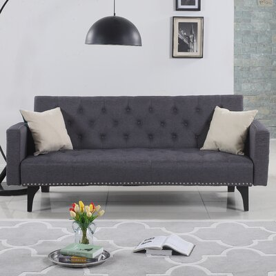 Rather Modern Tufted Sleeper Sofa