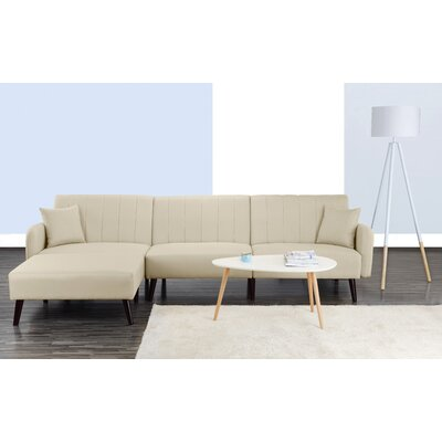 Bethzy Reversible Sectional Color: Beige