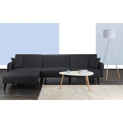 Bethzy Reversible Sectional Color: Dark Gray