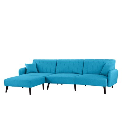 Bethzy Reversible Sectional Color: Sky Blue