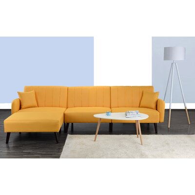Bethzy Reversible Sectional Color: Yellow