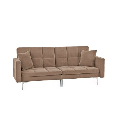 Rojo Sleeper Convertible Sofa Upholstery: Brown