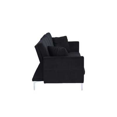 Rojo Sleeper Convertible Sofa Upholstery: Black