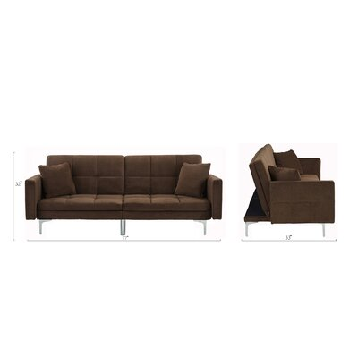 Rojo Sleeper Convertible Sofa Upholstery: Dark Brown