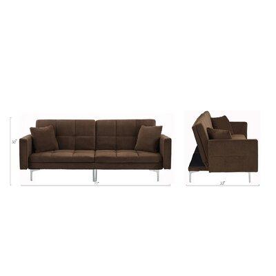 Rojo Sleeper Convertible Sofa Upholstery: Dark Brown