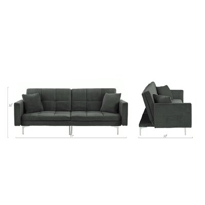 Rojo Sleeper Convertible Sofa Upholstery: Gray