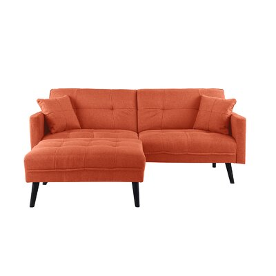 Roldan Sleeper Sofa Upholstery: Orange