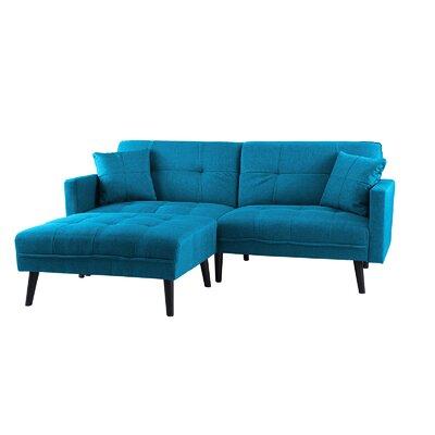 Roldan Sleeper Sofa Upholstery: Sky Blue