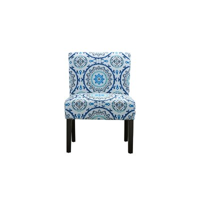 Lynnwood Sleek Side Chair Upholstery: Blue Pattern