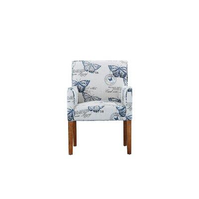 Lovill Sleek Armchair Upholstery: Butterfly Print