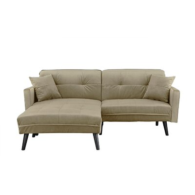 Gilyard Brush Convertible Sleeper Sofa Upholstery: Beige