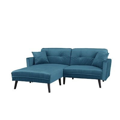 Bisson Brush Convertible Sleeper Sofa Upholstery: Blue