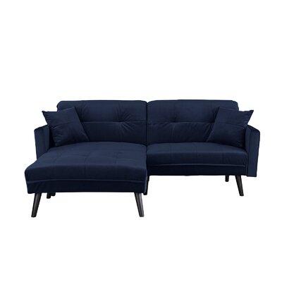 Gilyard Brush Convertible Sleeper Sofa Upholstery: Navy