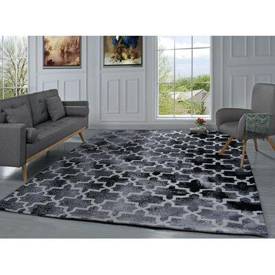 Riddell Moroccan Trellis Black Area Rug Rug Size: 8 x 10