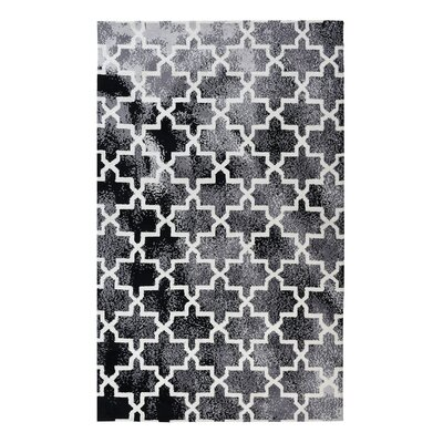 Riddell Moroccan Trellis Black Area Rug Rug Size: 5 x 7