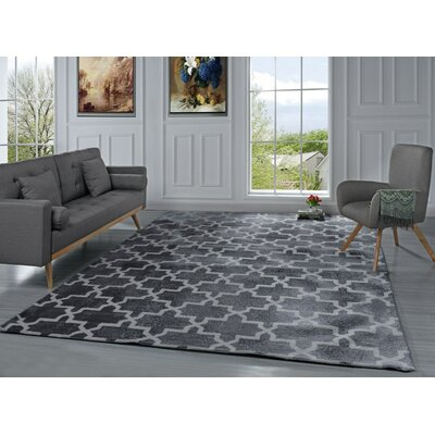Riddell Moroccan Trellis Gray Area Rug Rug Size: 8 x 10