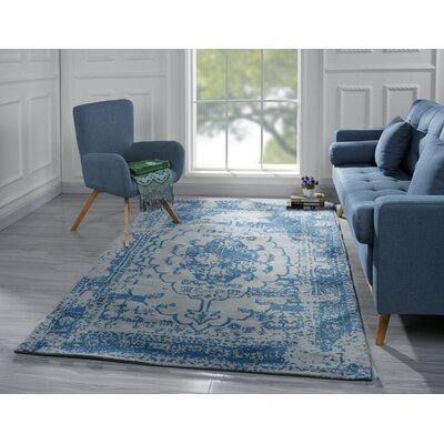 Stonehill Persian Distressed Blue Area Rug Rug Size: 5 x 7