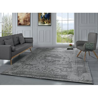Stonehill Persian Distressed Gray Area Rug Rug Size: 8 x 10
