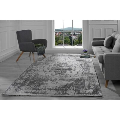 Stonehill Persian Distressed Gray Area Rug Rug Size: 5 x 7