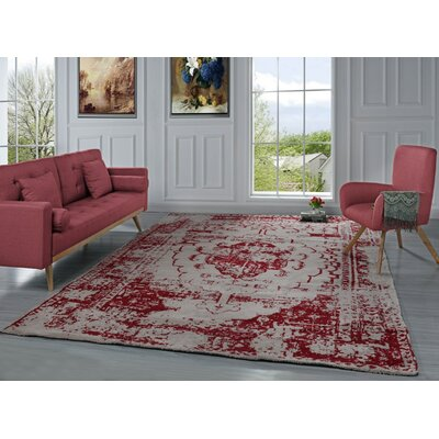 Stonehill Persian Distressed Red Area Rug Rug Size: 8 X 10