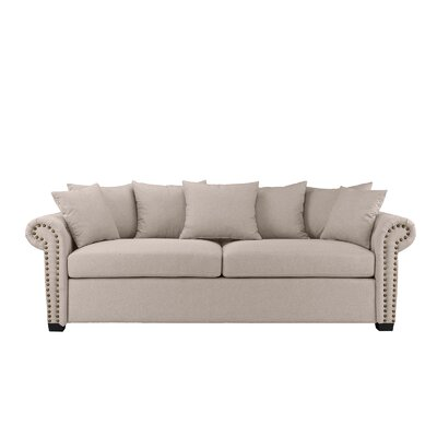 Dunnstown Classic Scroll Arm Standard Sofa Upholstery: Beige