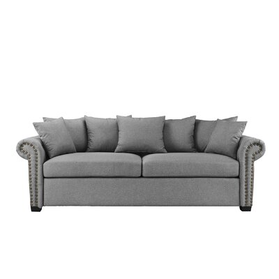 Dunnstown Classic Scroll Arm Standard Sofa Upholstery: Light Gray