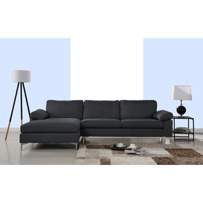 Manhasset Modern Large Sectional Upholstery: Dark Gray