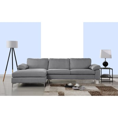 Manhasset Modern Large Sectional Upholstery: Gray