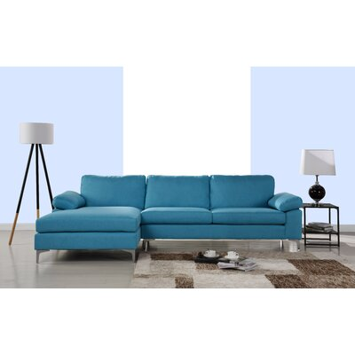Manhasset Modern Large Sectional Upholstery: Navy