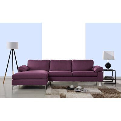 Manhasset Modern Large Sectional Upholstery: Purple