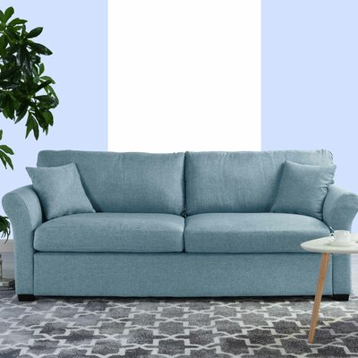 Lyndhurst Modern Classic Ultra Comfortable Sofa Upholstery: Sky Blue