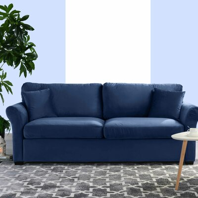 Lynnhaven Classic Modern Ultra Comfortable Sofa Upholstery: Navy