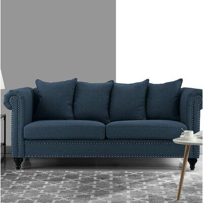 Blue Heron Classic Sofa Upholstery: Dark Blue