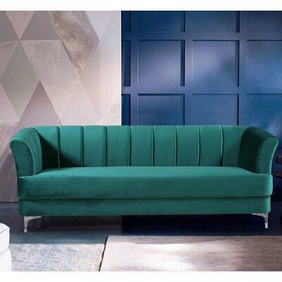 Danette Elegant Classic Chesterfield Sofa Upholstery: Green