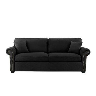 Boylston Sofa Upholstery: Black