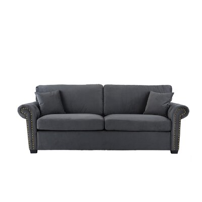 Boyster Sofa Upholstery: Dark Gray