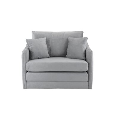 Forsyth Convertible Chair Upholstery: Light Gray