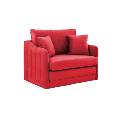 Forsyth Convertible Chair Upholstery: Red