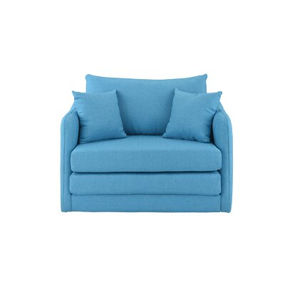 Francisville Convertible Chair Upholstery: Blue