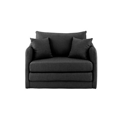 Francisville Convertible Chair Upholstery: Dark Gray
