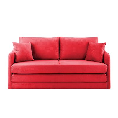 Alverez Convertible Sleeper Sofa Upholstery: Red