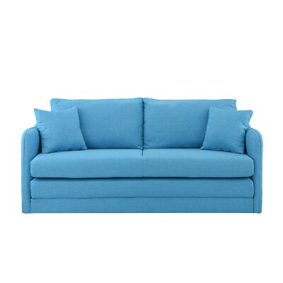 Alverez Convertible Sleeper Sofa Upholstery: Blue