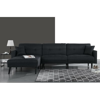 Wagenen Sectional Upholstery: Black